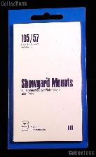 Showgard Pre-Cut Black Stamp Mounts Size 105/57