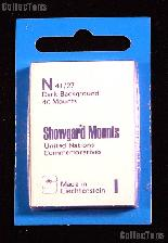 Showgard Pre-Cut Black Stamp Mounts Size N41/27