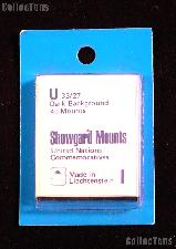 Showgard Pre-Cut Black Stamp Mounts Size U33/27