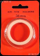 "Air-Tite Coin Capsule ""I"" White Ring Coin Holder for 36mm Coins"