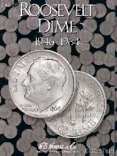 Harris Roosevelt Dimes 1946-1964 Coin Folder  2684