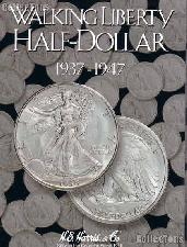 Harris Walking Liberty Halves 1937-47 Coin Folder  2694