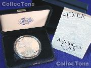2002 Silver Eagle PROOF In Box with COA 2002-W American Silver Eagle Dollar Proof