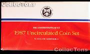 1987 Mint Set - All Original 10 Coin U.S. Mint Uncirculated Set