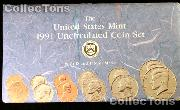 1991 Mint Set - All Original 10 Coin U.S. Mint Uncirculated Set