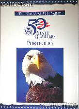 Official U.S. Mint 50 State Quarter Portfolio Map