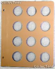 Dansco Blank Album Page for 36mm Coins