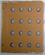Dansco Blank Album Page for 20mm Coins