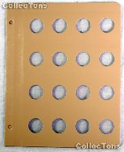 Dansco Blank Album Page for 24mm Coins