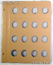 Dansco Blank Album Page for 26mm Coins