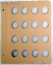Dansco Blank Album Page for 29mm Coins