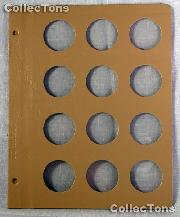 Dansco Blank Album Page for 37mm Coins