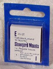 Showgard Pre-Cut Black Stamp Mounts Size E22/25