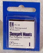 Showgard Pre-Cut Black Stamp Mounts Size EH25/22