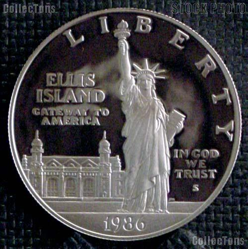1986-S Proof Statue of Liberty Silver Dollars