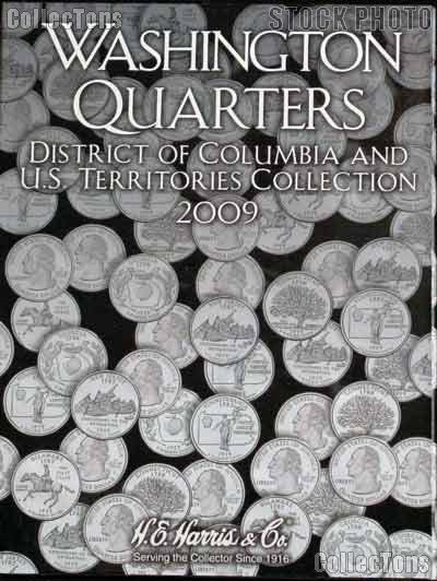 Harris D.C. & Territory Quarters 2009 Coin Folder  2640
