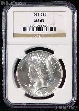 1923 Peace Silver Dollar in NGC MS 63