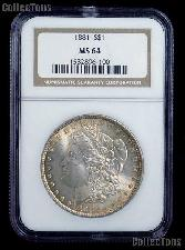 1881 Morgan Silver Dollar in NGC MS 64