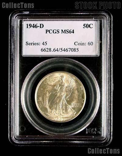 1946-D Walking Liberty Half Dollar in PCGS MS 64