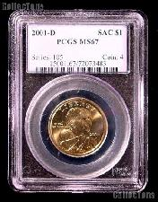 2001-D Sacagawea Golden Dollar in PCGS MS 67