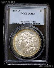 1883-O Morgan Silver Dollar in PCGS MS 63