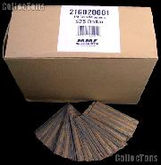 1000 Flat Kraft Paper Coin Wrappers for 25 SMALL DOLLARS