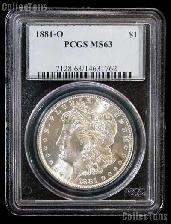 1881-O Morgan Silver Dollar in PCGS MS 63