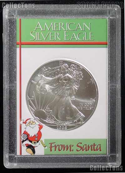 2011 American Silver Eagle in From Santa 2x3 Holder IN STOCK