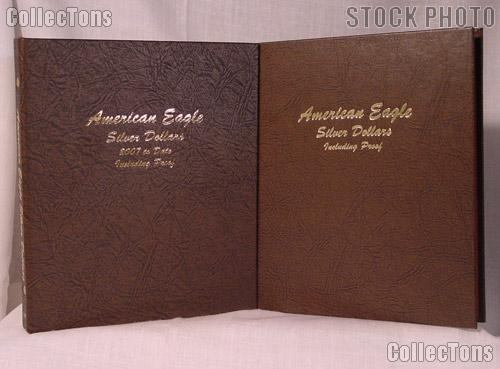 Complete Set of Dansco Albums American Silver Eagle Dollars with Proof 1986 to Date