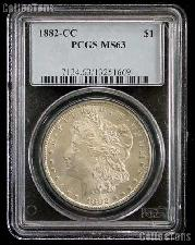 1882-CC Morgan Silver Dollar in PCGS MS 63
