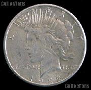 1922 D Peace Silver Dollar Circulated Coin VG-8 or Better
