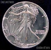 1987 American Silver Eagle Dollar BU 1oz Silver Uncirculated Coin