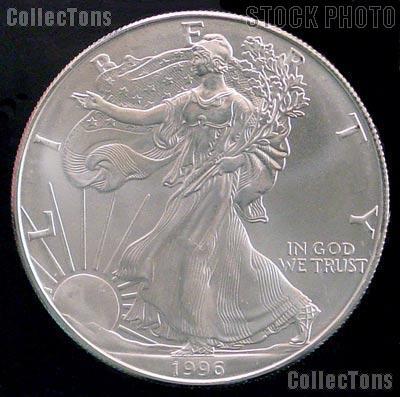 1996 American Silver Eagle Dollar Bu 1oz Silver