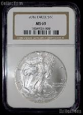 2002 American Silver Eagle Dollar in NGC MS 69