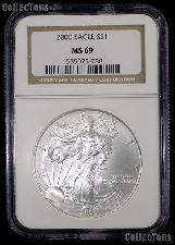 2000 American Silver Eagle Dollar in NGC MS 69