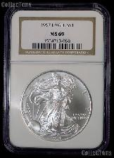1997 American Silver Eagle Dollar in NGC MS 69