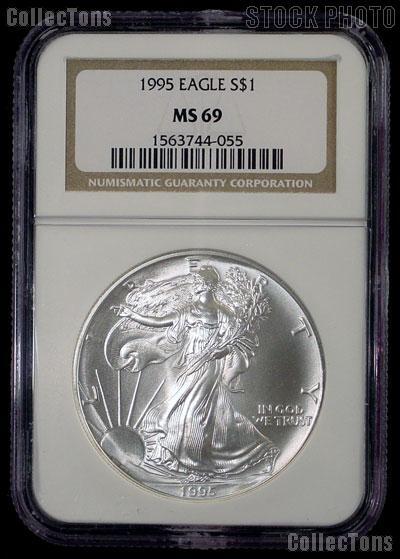 1995 American Silver Eagle American Eagle Silver Dollar