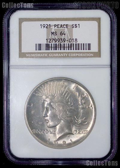 High Relief Peace Dollar 1921 Peace Silver Dollar High