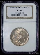 1925 Stone Mountain Memorial Silver Commemorative Half Dollar in NGC MS 64