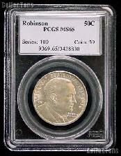 1936 Arkansas Centennial Robinson Silver Commemorative Half Dollar in PCGS MS 65