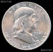 1949-S Franklin Half Dollar Silver * Choice BU 1949 Franklin Half