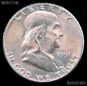 1951 Franklin Half Dollar Silver * Choice BU 1951 Franklin Half
