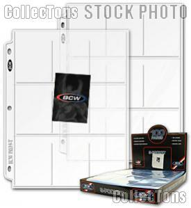 Trading Card Page 9-Pocket by BCW Pack of 5 Pro 9-Pocket Trading Card Pages