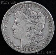 1879 CC Morgan Silver Dollar Circulated Coin VG 8 or Better