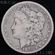 1880 Morgan Silver Dollar Circulated Coin VG 8 or Better