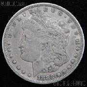 1882 O/S Morgan Silver Dollar Circulated Coin VG 8 or Better