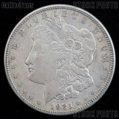 1921 Morgan Silver Dollar Circulated Coin VG 8 or Better