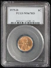1939-D Lincoln Wheat Cent in PCGS MS 67 RD