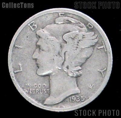 1935 Mercury Head Dime Silver Free Shipping On Ebid United