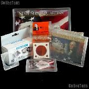 Coin Collecting Supplies - Plastic Coin Holders